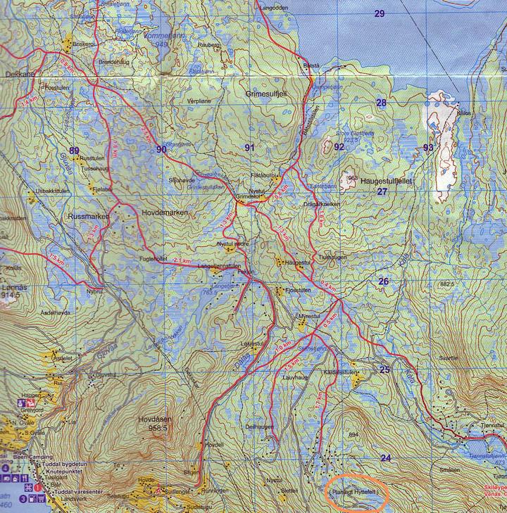 gaustatoppen kart Turtips gaustatoppen kart